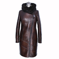 mink fur natural Genuine Leather 100 Collar Loose special offer women winter Faux suede coat dress
