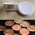 DIY White Plastic Hamburger Meat Beef Grill Burger Press Patty Maker Mold Mould Kitchen Stufz Machine