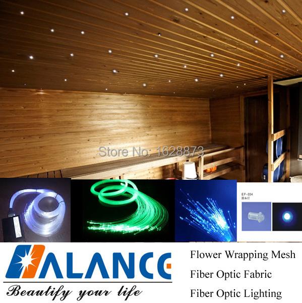 16W LED Sauna Fiber Optic Light Kits Optical Fiber Lighting Ceiling Star Lig