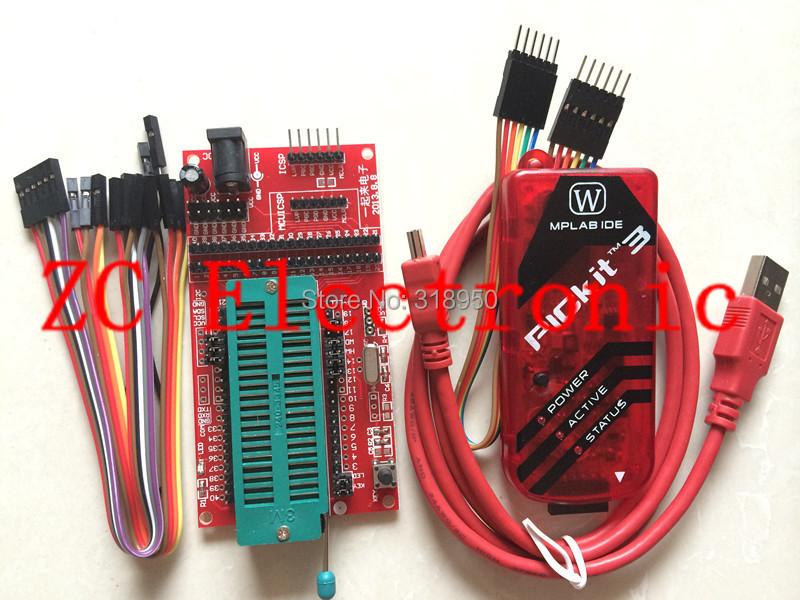 pickit3 Programming / emulator + PIC microcontroller / minimum system board / development board / universal programmer seat(China (Mainland))
