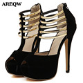 AREQW 2017 summer Women s Shoes High Heels Sandals women Valentine Shoes Platforma Party Nightclub Chaussure
