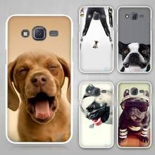cute dog Hard White Case Cover Samsung Galaxy J1 J2 J3 J5 J7 C5 C7 C9 E5 E7 2016 - Madivan store