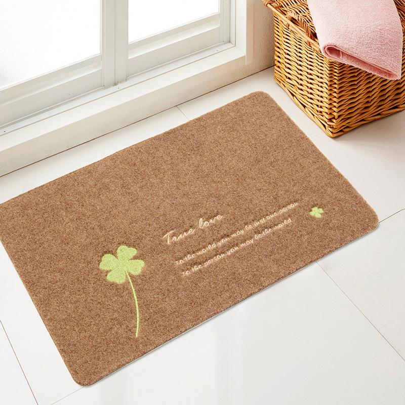 Newest Shower Rug Tower Embroidery Waterproof Bath Rug Polyester Bathroom Floor Mats Hard Plush