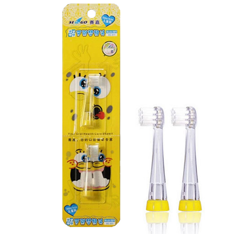Baby Toothbrush Heads YCSG-8110 2pcs=1pack For Sonic Electric Toothbrush (SG902/602) Children Replacement Brush Head Ultral Soft