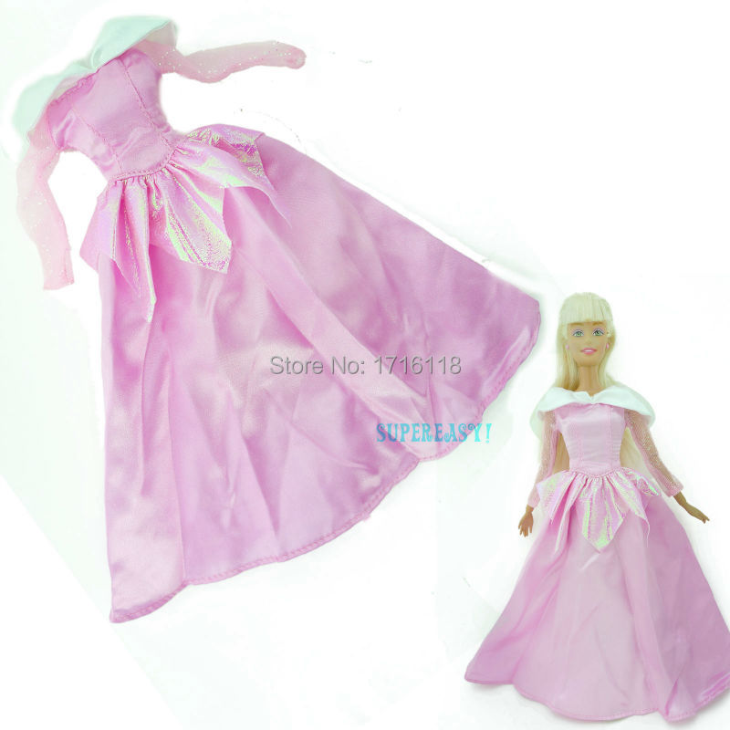 5x Fariy Story Costume Princess Robe Outfit Mermaid Fishtail Clothes Garments For Barbie Doll 11.5″ 12″ Puppet Play Home Toys Reward