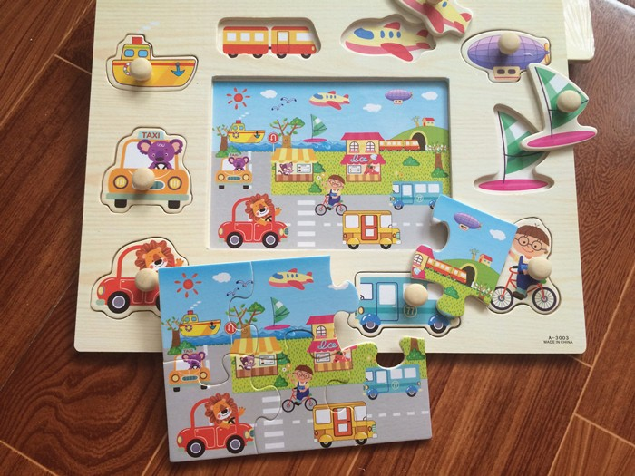 Baby Toys Montessori 2 In 1 Puzzle/Hand Grab Board Set Educational ...