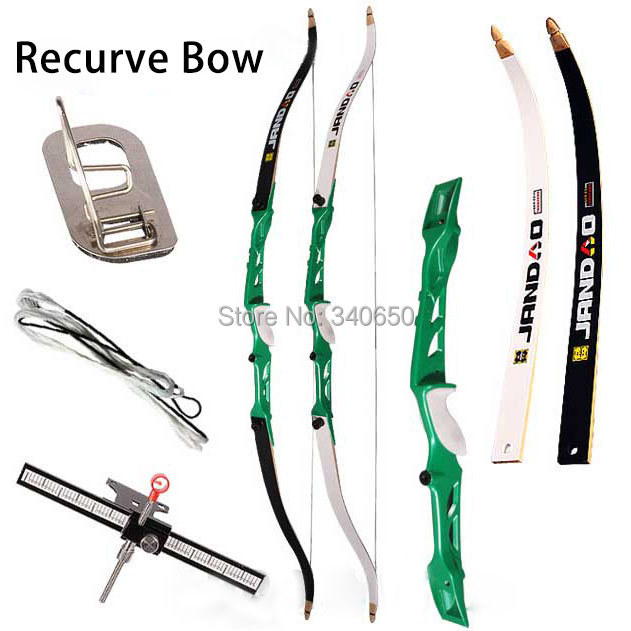 Composite Materials 38lbs Recurve Bow Glass and Steel Arrow Rest For Hunting Training