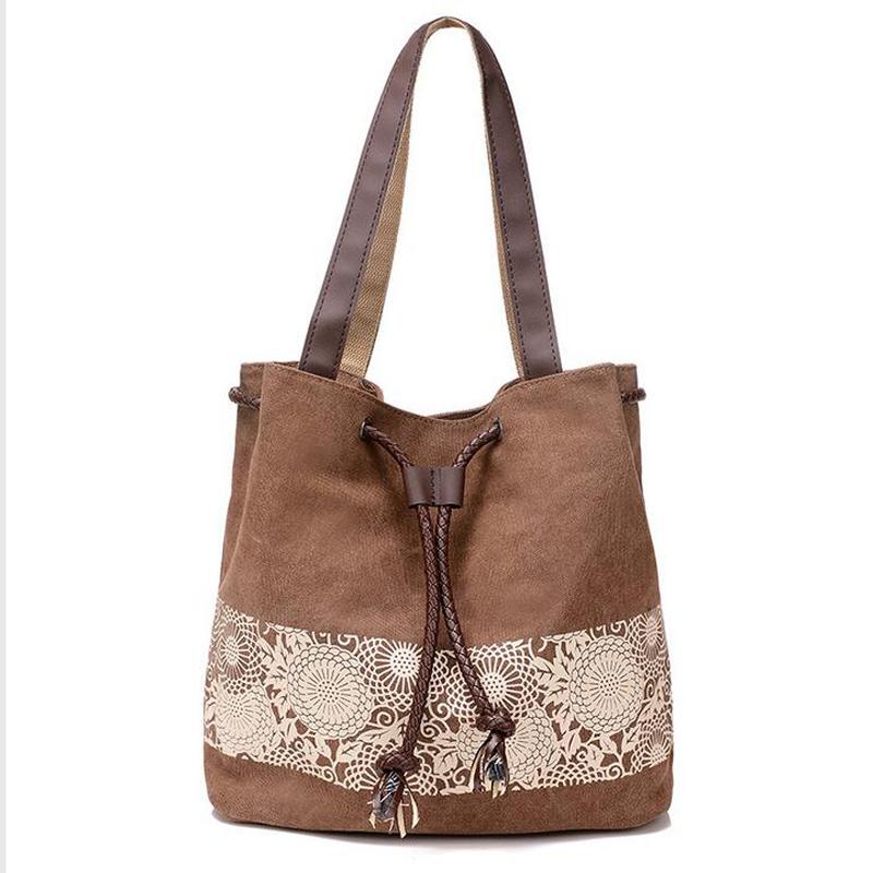 Casual women shoulder bags top quality designer bags handbag canvas famous brand women bags tote 2016 bolsos(China (Mainland))