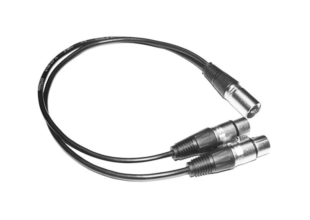 free shipping 3 pin xlr splitter y adapter male to 2 female dmx cable for microphone