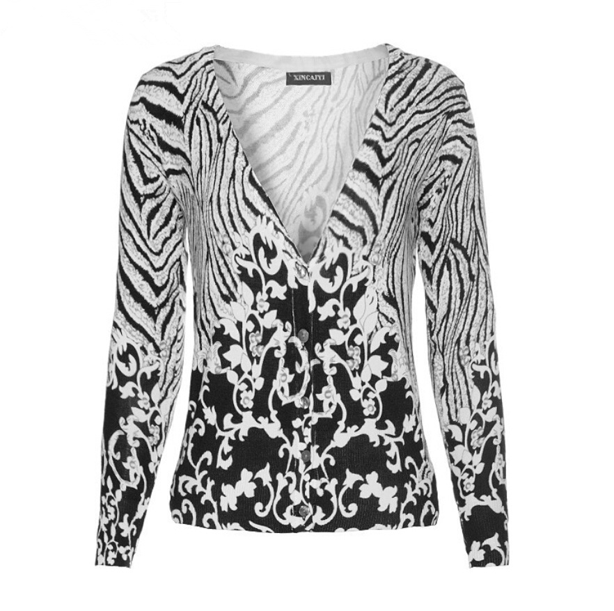 Zebra Print Knitting Pattern : Popular zebra print cardigan buy cheap