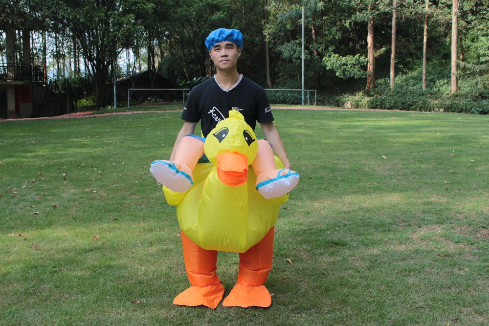 Funny Inflatable Costume Carnival Halloween CostumeInflatable costumeInflatable dinosaur costumeHalloween CostumeInflatable costume for adultsparty ...  sc 1 st  DHgate.com & New! Halloween Inflatable Yellow Duck Costume For Adult And Children ...