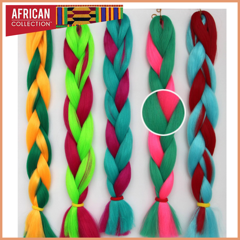 Colored Xpression Hair wholesale 3pcs/Lot Japan Synthetic Fiber Expression Braiding Hair Long Jumbo Braids Ombre Weave Hair