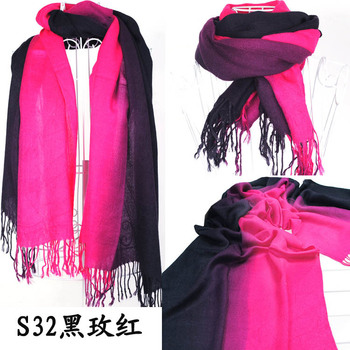 Brand New Women's Fashion Long large Soft Shawl Stole Cashmere Scarf Gradient scarf wraps