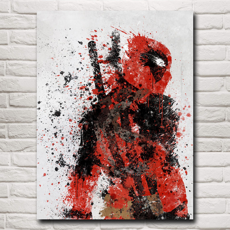 Deadpool Wade Wilson USA Superheroes Comic Movie Art Silk Poster Print Home Decor Painting 12x16 18X24 24x32 Inch Free Shipping(China (Mainland))