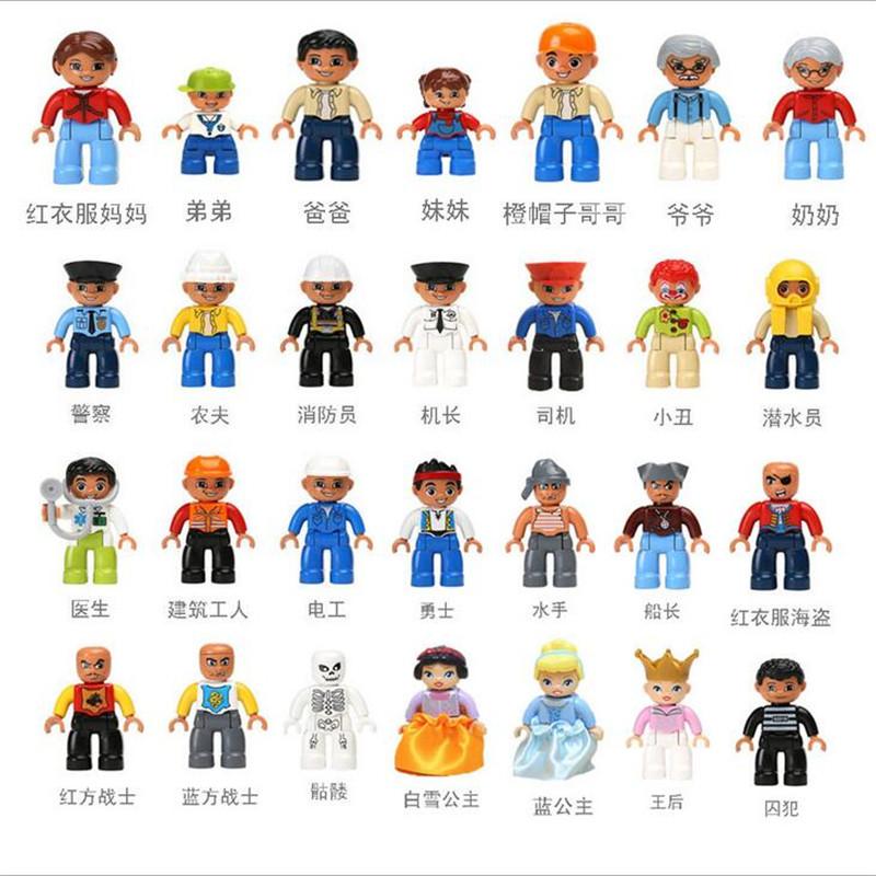 Single Sales Duplos Animal Minifigure Model Building Blocks Sets Anime Figure toys children - Minifigures little shops store