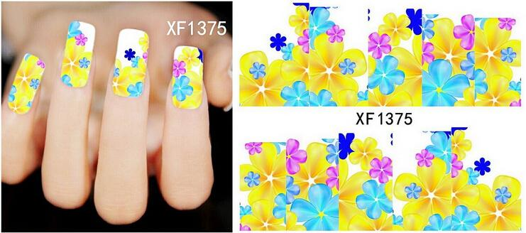 XF1375 New 1 Sheet French Design Water Transfer Tips Nail Art Decorations Nail Sticker Manicure Nail Decal Nail Tools&(China (Mainland))
