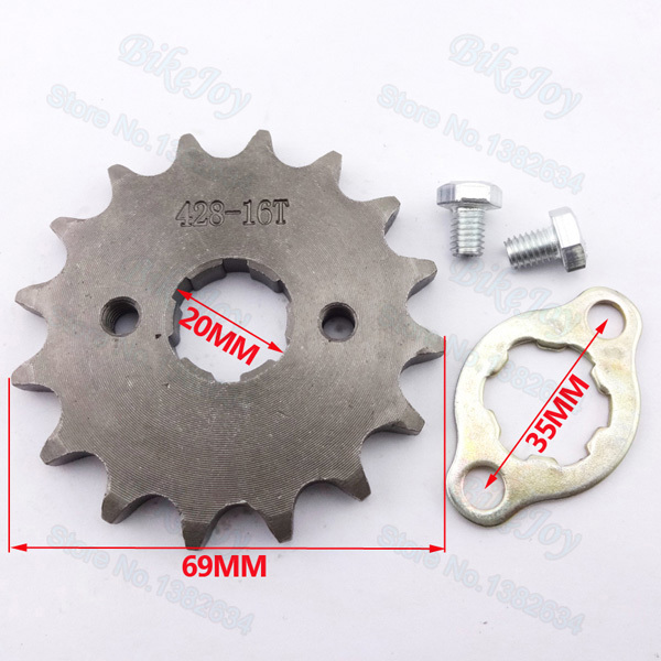 428 16 T Tooth 20mm Front Engine Sprocket for Lifan YX Loncin Zongshen Dirt Pit Bike ATV Quad Go Kart Buggy Scooter Motorcycle