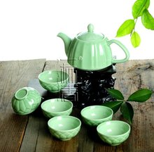 7pcs Beautiful Tea Set, Porrtery Teaset,A3TL03, Free Shipping