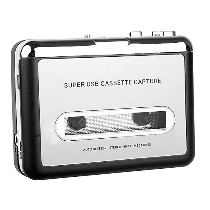 Beautiful Gift New Tape to PC Super USB Cassette to MP3 Converter Capture Audio Music Player Free Shipping May20(China (Mainland))