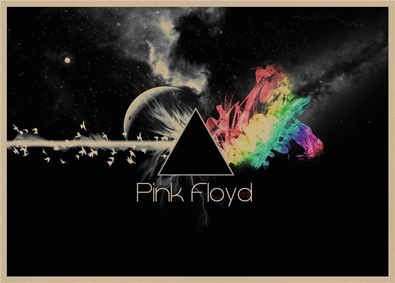 Pink Floyd retro Poster Retro Kraft Paper Bar Cafe Home Decor Painting Wall Sticker