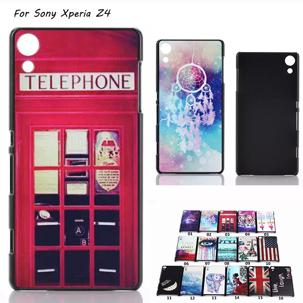 Retro Telephone Box Dream Catcher Aztec Feather Tiger Design PC Hard Case Cover For Sony Xperia Z4 Z3+ Dual E6533 Back Cover(China (Mainland))