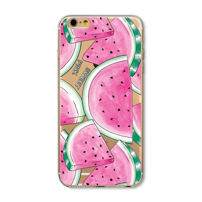 Case For Apple iPhone 6 6s Plus 6Plus 4 4S 5 5S SE 5C Soft Silicon TPU Transparent Fruit Pineapple Lemon Banana Thin Phone Cases