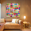 Modern abstract oil painting canvas wall art colorful painting poster pop art decorative canvas prints wall