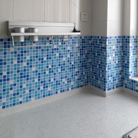 Diy Self Stick Waterproof Bathroom Mosaic Wall Sticker Kitchen Oil Proof Ceramic Stickers Home