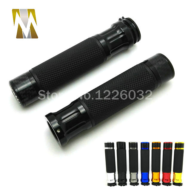 2016 New Moto Handle Grips 7/8 Carbon Fiber CNC Aluminum Universal Motorcycle Handlebar 22mm Hand Grips With Throttle Core<br><br>Aliexpress