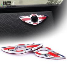 2pcs/set mini cooper interior window pin protect accessories Zinc Alloy sticker for mini one clubman R55 R56 R57 R58 R59