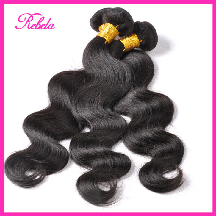 King Hair Peruvian Body Wave 100% Human Weaves Tissage Unprocessed Virgin Mix Length Lot - Rebela hair products Co.,Ltd store