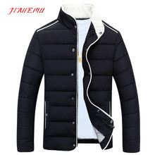 Men's Winter Clothes 2015 New Arrivals Casual Solid Stylish Coat Regular High Quality Quilted Long Sleeve Warm Jacket XXXL N379