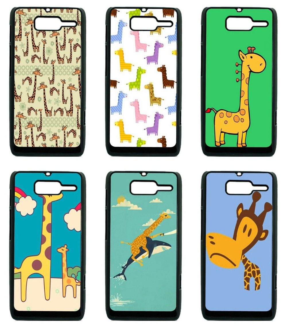 Case For Motorola RAZR D3 case mobile phone Hard Plastic Back Case Cover Cute Giraffe Animal Free Shipping(China (Mainland))