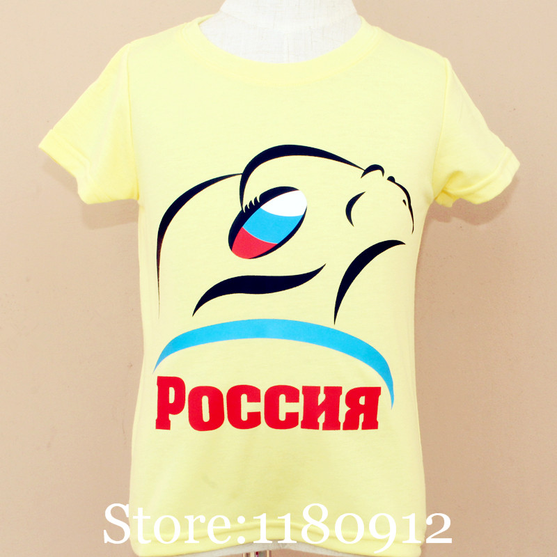 Olike Brand New Design Children's Clothing Summer Cotton Children T Shirts Boys T Shirt Girls Clothes Rugby Russia T Shirt 2-12y(China (Mainland))