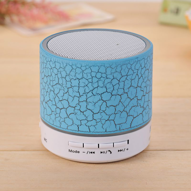 Portable Wireless Mini LED Bluetooth Speakers Small Music Audio TF USB FM Light Stereo Sound Speaker For Phone Xiaomi With Mic