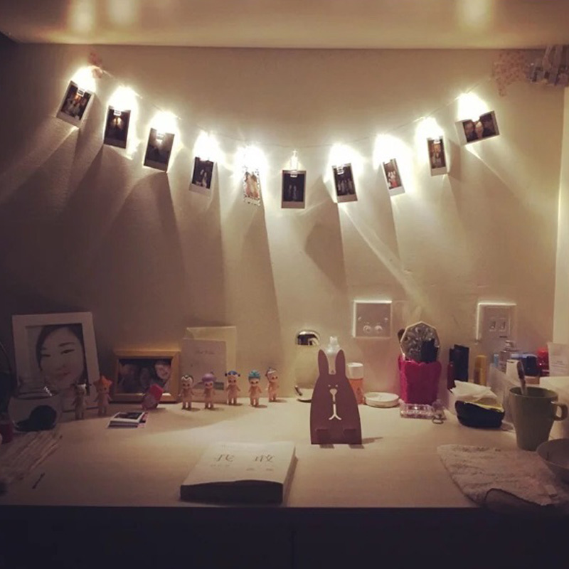 Wall Clips For Christmas Lights : Holiday Lighting 1M 10LED 2M 20LED Card Photo Wall Clip Fairy LED String Light Home Christmas ...