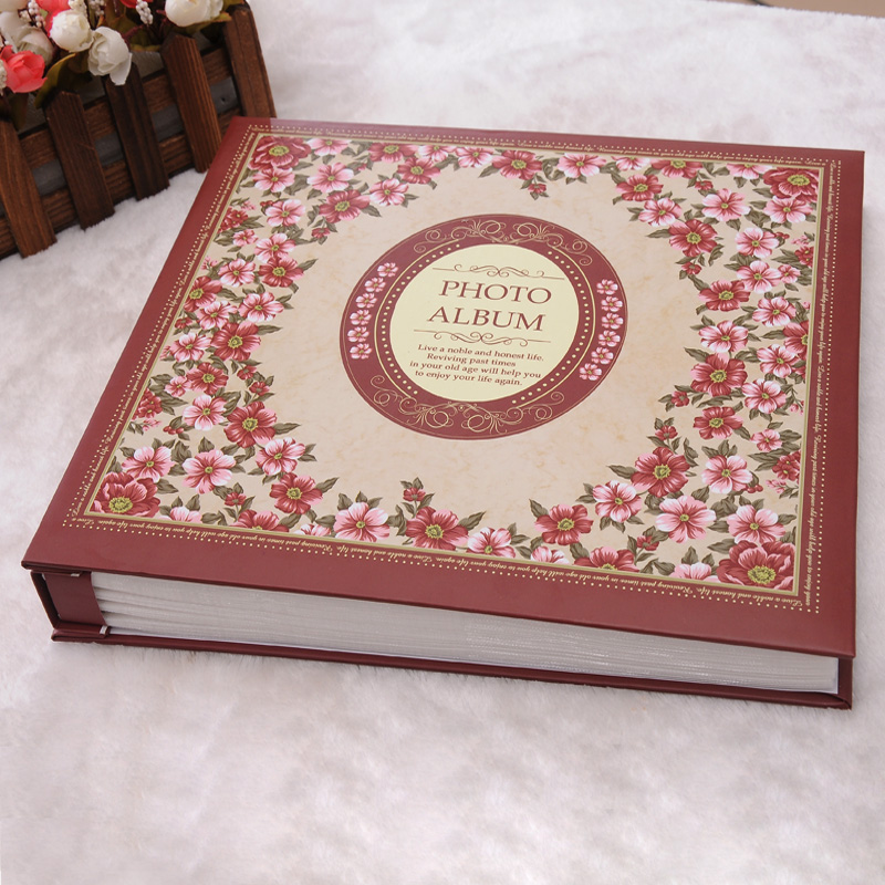 elegant heart flower family wedding photo album ultralarge 600 paragraph boxed big vintage 3R album de fotos(China (Mainland))