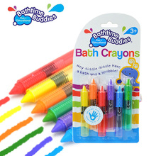 Safe Baby Kids Bathtime Crayons Drawing Toy Bath Playing Early Educational Toys juguetes brinquedos jouet de bain(China (Mainland))