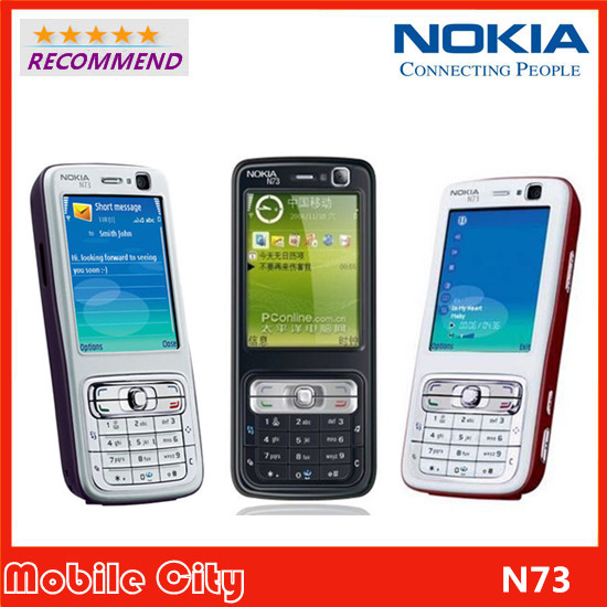 Original Refurbished Nokia N73 Factory Unlcoked Mobile Phone Camera 3.2MP Bluetooth FM Java Free Shipping(China (Mainland))