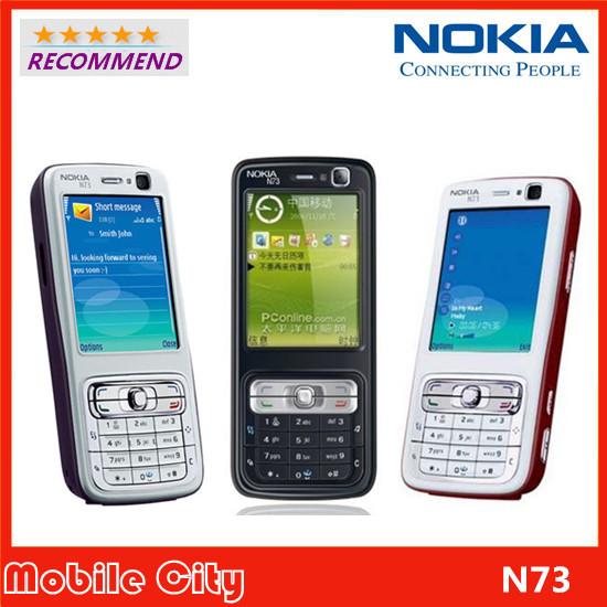 Original Refurbished Nokia N73 Factory Unlcoked Mobile Phone Camera 3.2MP Bluetooth FM Java Free Shipping(China (Mainland))