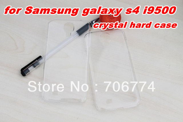 Hard PC Plastic Case Back Skin Cover for Samsung galaxy S4 i9500 clear Cheap free shipping