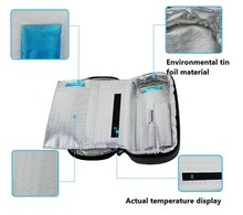 2016 Portable Insulin Cooler Bag Diabetic Insulin Travel Colder Case Cooling Box Bolsa Termica 4-24 degree centigrade display(China (Mainland))