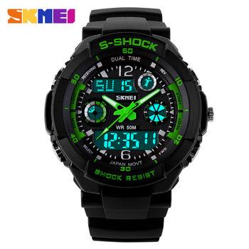 Новая S Шок Мода G Мужские Часы Спортивные часы Skmei Цифровые Аналоговые Многофункциональные с Будильником военные часы Мужские часы