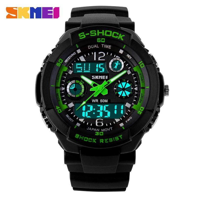 2016 New S Shock Digital Watch Men Sports Watches Skmei Digital Analog Multifunctional Alarm Military Watch