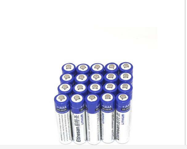 20pcs/lot Etinesan SUPER strong Lithium 1.5V AAA single use Batteries battery 15-year shelf life good quality(China (Mainland))