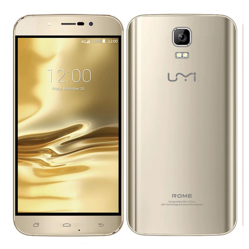 "Original Umi Rome Phone With MTK6753 Octa Core 1.3GHz 5.5"" Android 5.1 3GB RAM 16GB ROM 1280x720 13.0MP 4G LTE(China (Mainland))"
