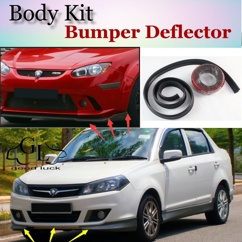 Bumper Lip Deflector Lips For Proton Saga Front Spoiler Skirt For TopGear Friends Car tuning View / Body Kit / Strip