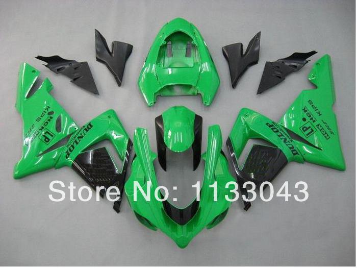 100% NEW Green black Fairings FOR KAWASAKI NINJA ZX10R 04-05 ZX 10R 04 05 ZX-10R 10 R 2004 2005 fairing kits #gjsh77 +7GIFTS - DAKE store