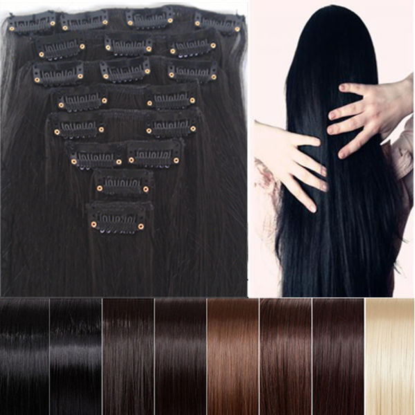 Clearance Sale Cheapest 8pcs 26 Long 170g Straight Style Hair Extension Create Ombre Feeling Soft Sy