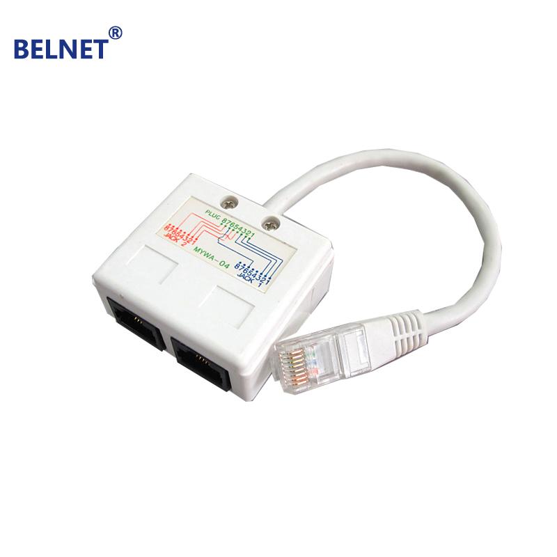 belnet rj45 connector network cable splitter ethernet splitter internet cable splitter two pc. Black Bedroom Furniture Sets. Home Design Ideas